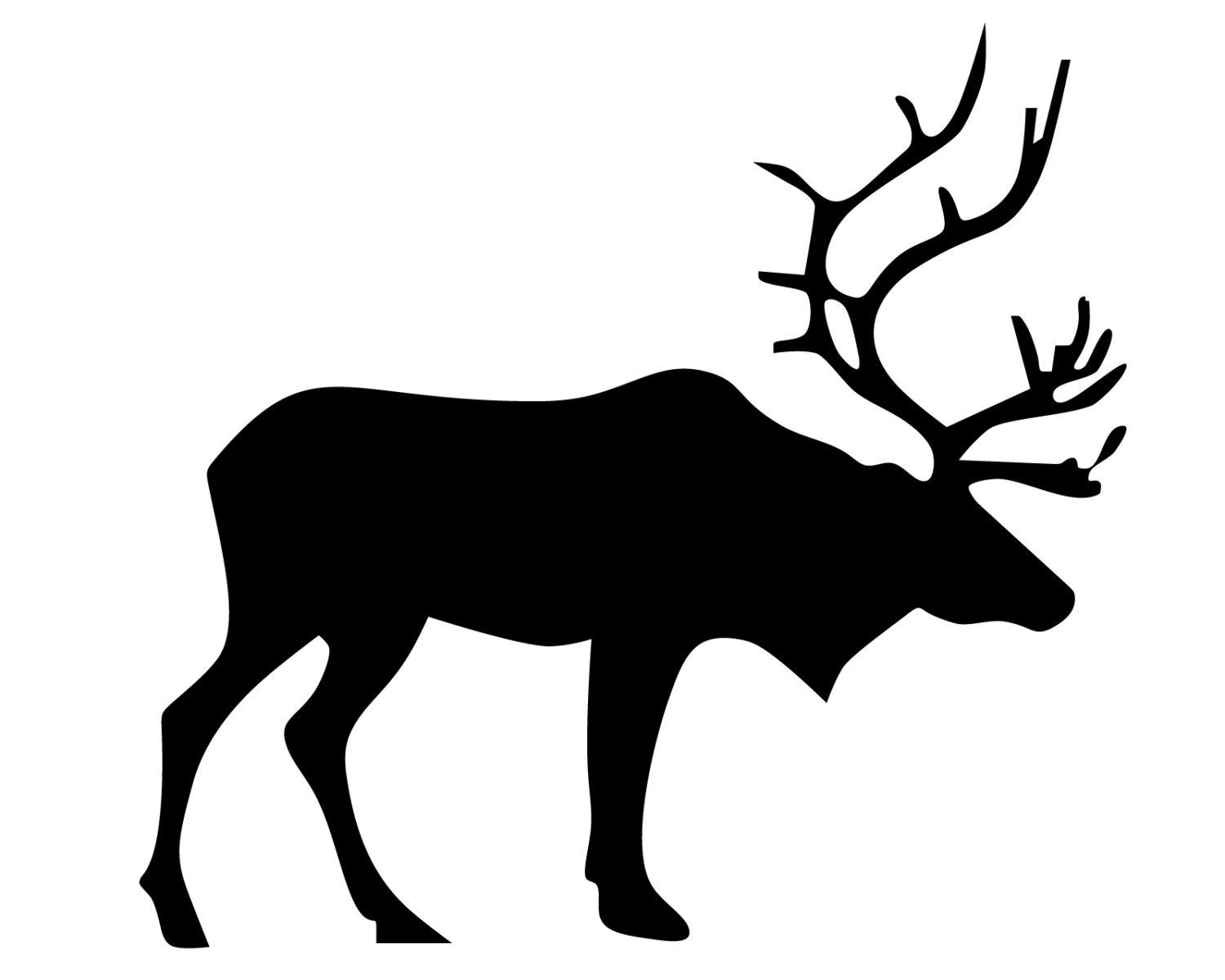 1500x1200 Elk Hunting Vinyl Sticker Elk Hunter Decal Elk Silhouette