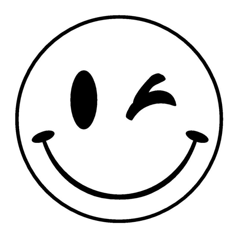800x800 Smiley Smiley Plotterpatronen Sjablonen Babykind