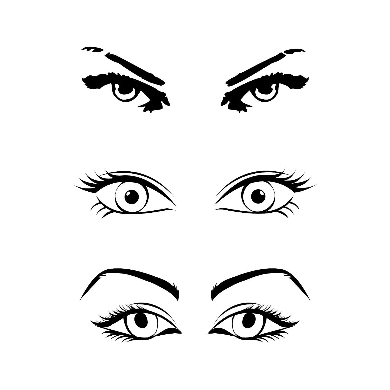 1500x1500 Eye Bundle Png Svg Cut Files For Silhouette Cricut Cuttable Svg