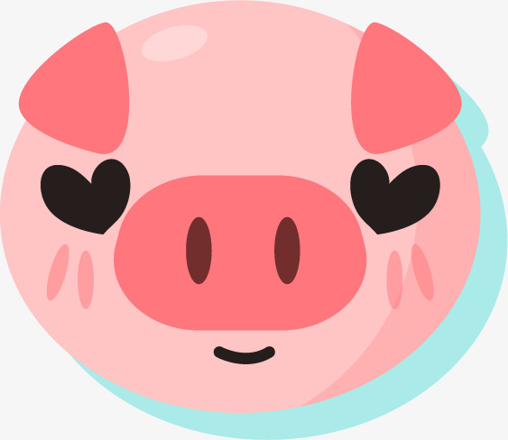 563x488 Eyes Like Red Heart Pig Silhouette, Eyes Red Heart, Lovely