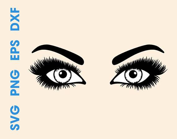 570x447 Eyes Svg Eyes Silhouette Eyes Svg Designs Eyes With Lashes