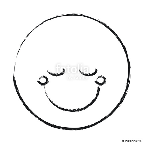 500x500 Blurred Silhouette Happy Face Male Emoticon With Eyes Closed