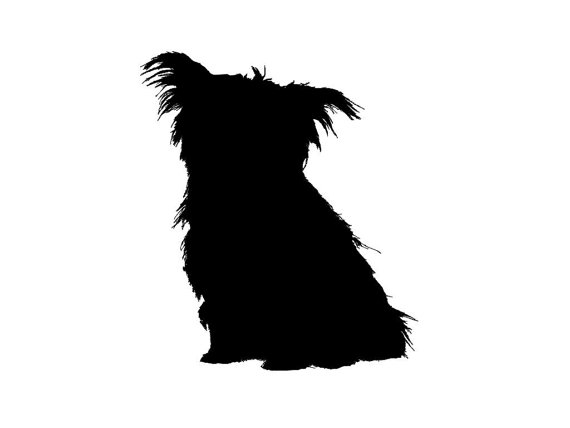 570x428 Cute Yorkie Silhouette With Eyes Clipart Collection