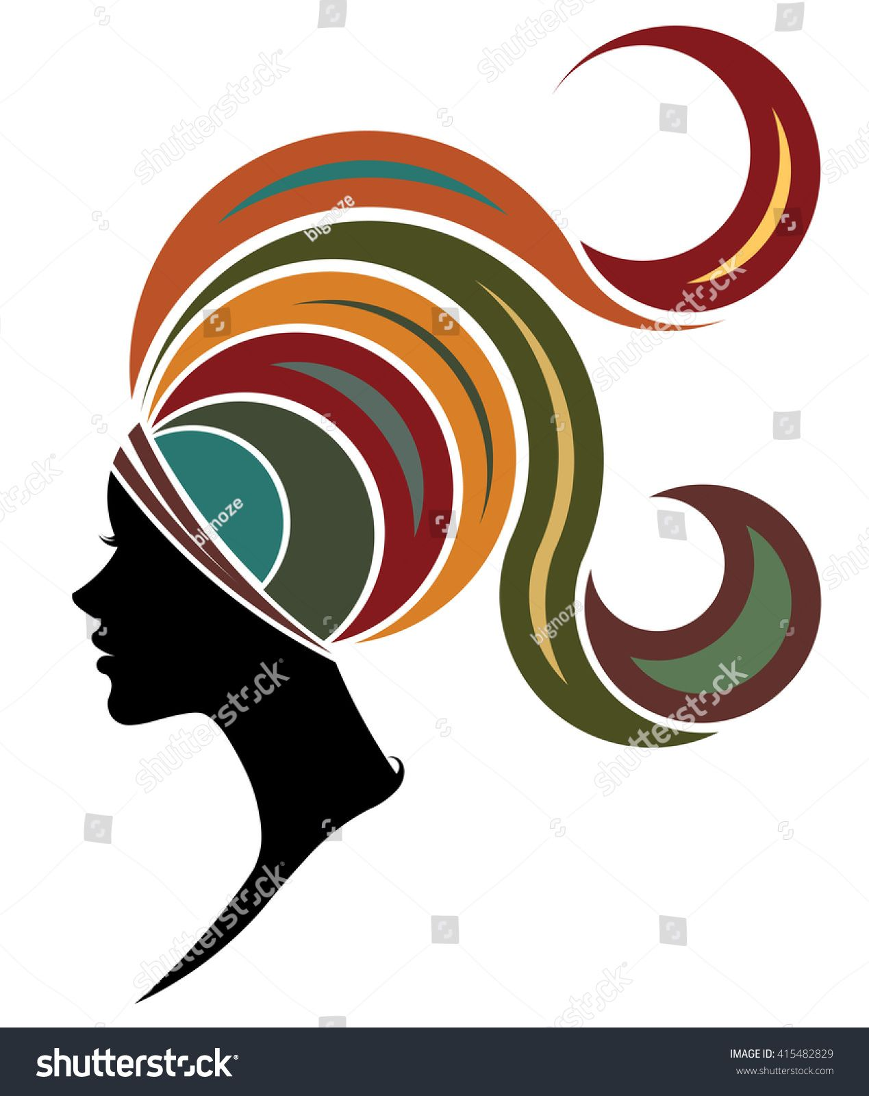 1269x1600 Illustration Vector Of Women Silhouette Icon, Women Face Logo