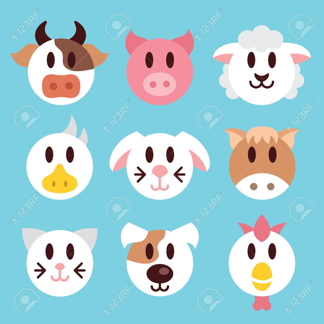 1300x1300 Face Clipart Farm Animal 3512632
