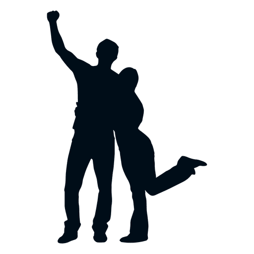 512x512 Family Couple Cheering Silhouette