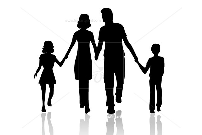 650x434 Family Silhouette Free Vectors, Illustrations, Graphics, Clipart