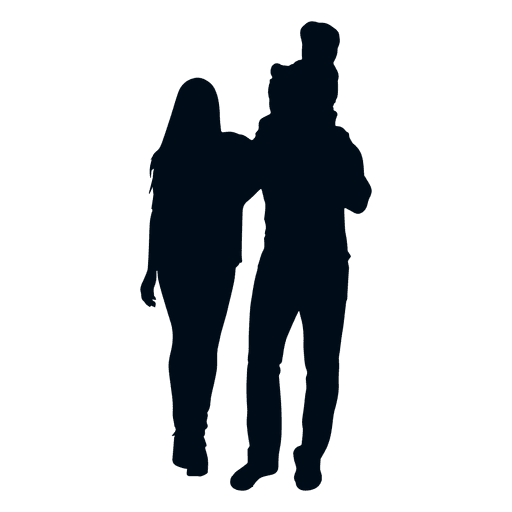 512x512 Family With Child On Shoulders Silhouette