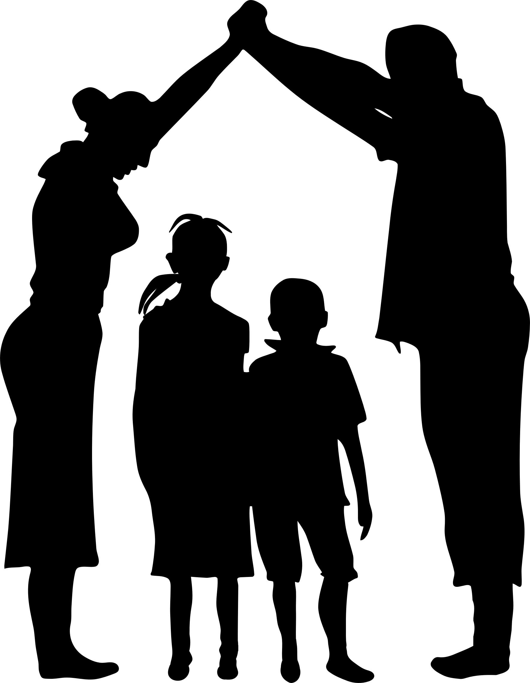 1768x2280 Floral Family Holding Hands Minus Ground Silhouette Icons Png