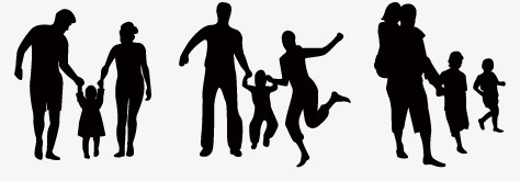 474x165 Family, Silhouette Family, Reunite Png Image And Clipart For Free