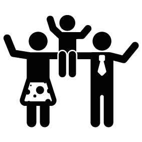 283x283 Family Silhouette Silhouette Of Family