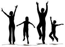 219x160 This Is A Silhouette Of A Large Family. Fitness Exercises