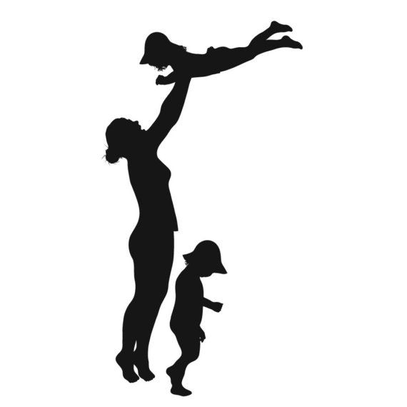 570x570 Awesome Alternative To The Family Portrait! Custom silhouette