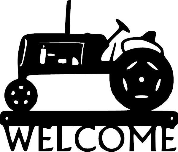 600x514 Welcome Tractor Vinyl Decal Tractor, Cricut And Silhouettes