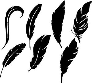 300x272 Die Cut Outs Silhouette Feather Shape X 14 Topper Scrapbook Fairy