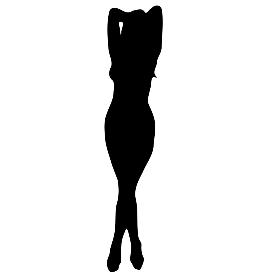 958x958 Female Body 3 Silhouettes Female Bodies