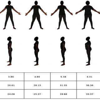 320x320 Fig 4. Female Body Size Scale. The Scale Shows 9 Black Female