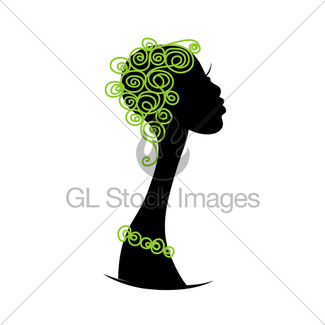 325x325 Female Head Silhouette For Your Design Gl Stock Images