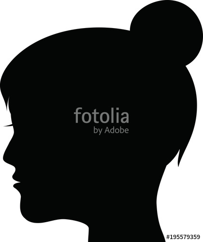 420x500 Female Head Silhouette Icon 2 Stock Image And Royalty Free Vector