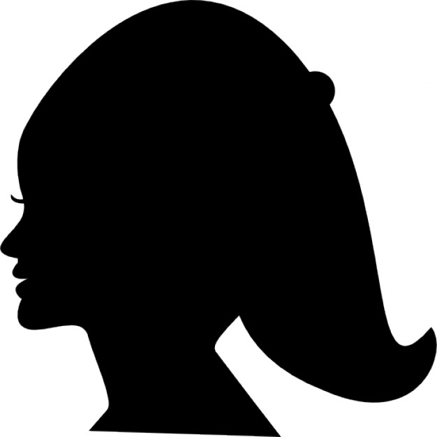 626x626 Female Head Silhouette Of Short Hair Icons Free Download