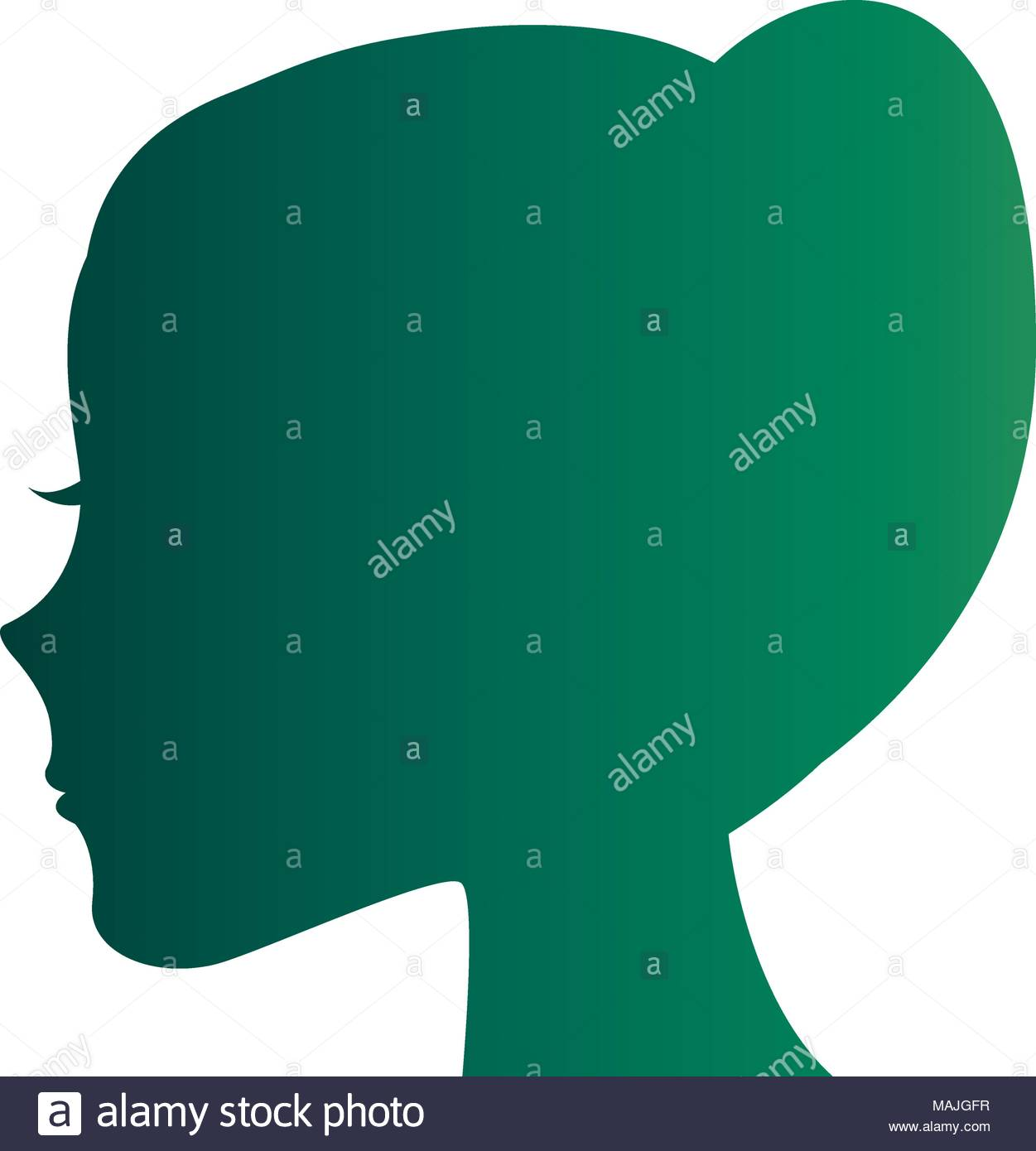 1251x1390 Girl Silhouette Ponytail Stock Vector Images
