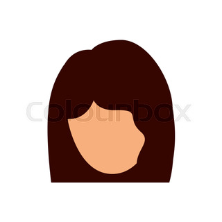 320x320 Woman Female Head Avatar Person Human Icon. Colorful And Flat