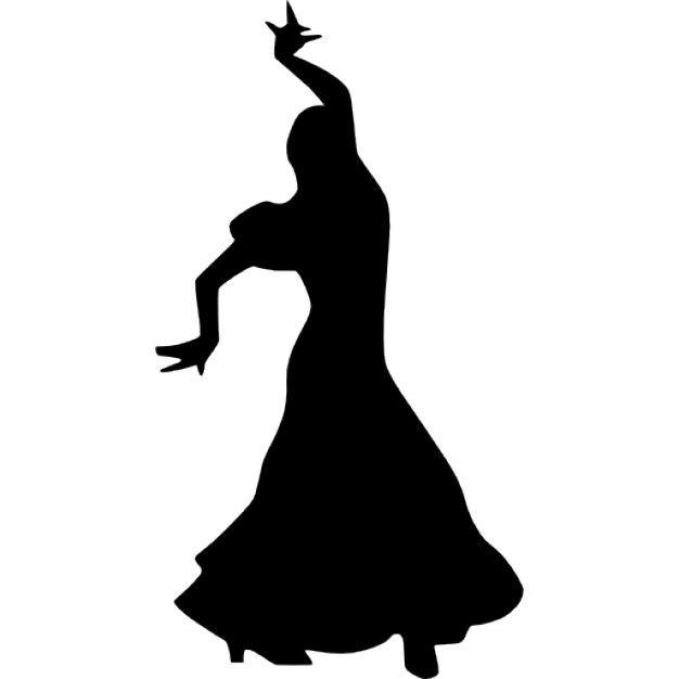 626x626 Femme Danse Flamenco Silhouette Flamenco, Silhouettes And Dancing