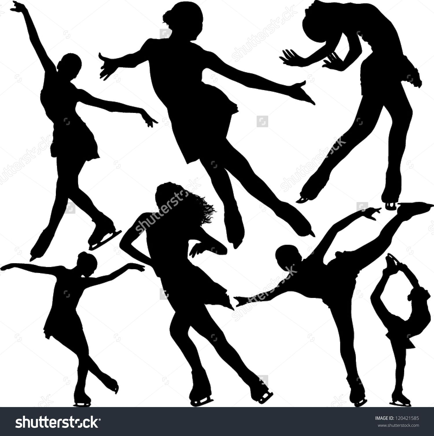 1500x1506 Figure Skater Silhouette Figure Ice Skating Vector Silhouettes