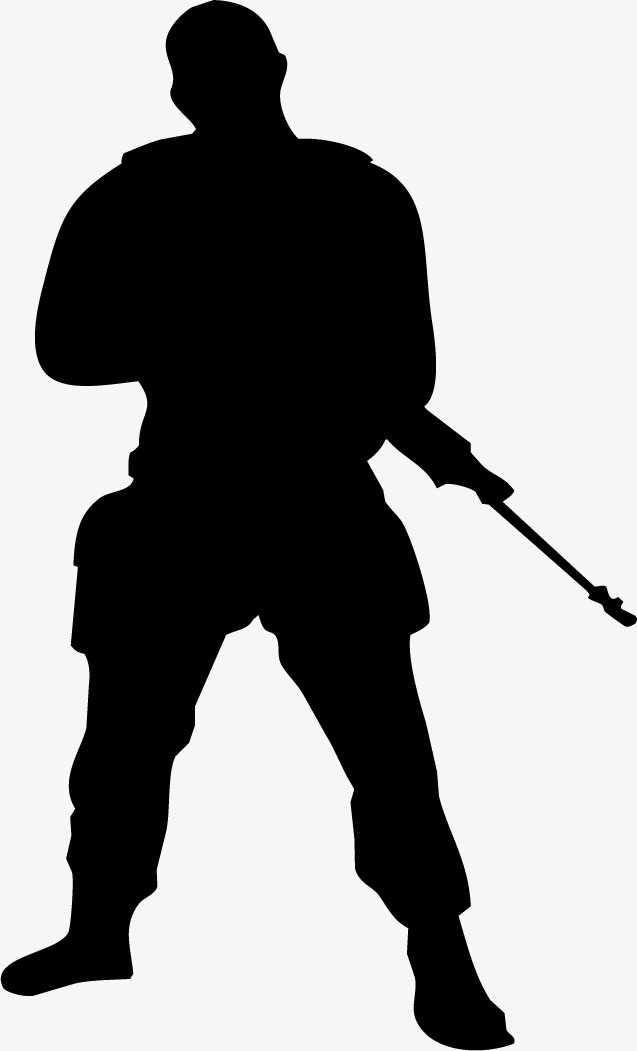 637x1051 Black Armed Police Figure Silhouette, Black, Business, Silhouette