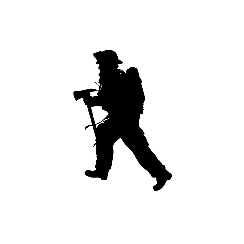 Silhouette Firefighter