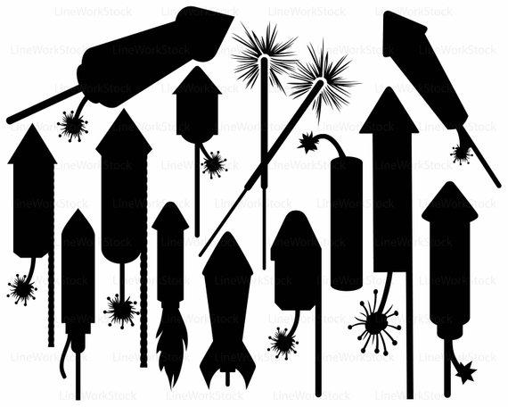 570x456 Fireworks Svgrocket Clipartfireworks Svgsilhouettefireworks