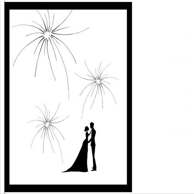 640x640 1pcs Personalized Custom Brilliant Fireworks Wedding Fingerprint
