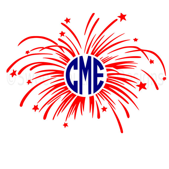 570x570 Monogram Fireworks Fourth Of July Memorial Day Svg Instant