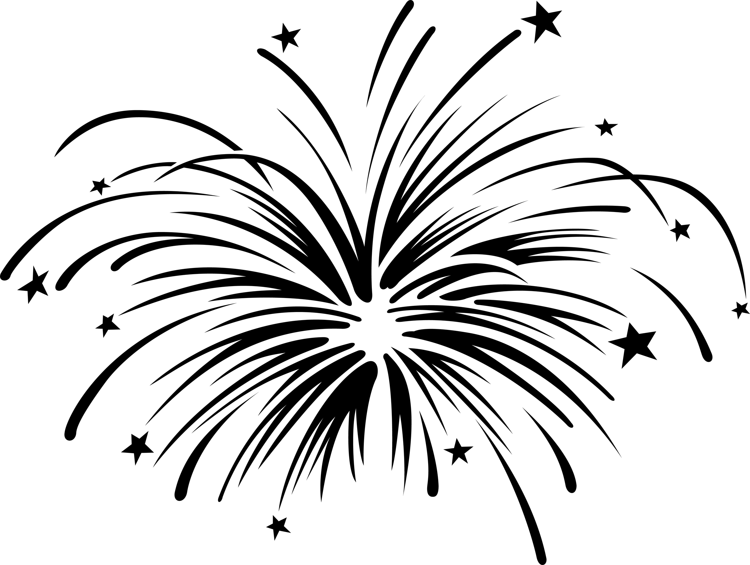 silhouette fireworks at getdrawings com free for 4th of july fireworks clip art images Happy 4th of July Fireworks