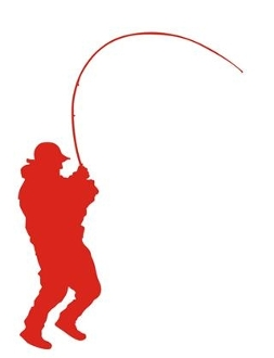 253x330 Fisherman Silhouette 2 Decal Sticker