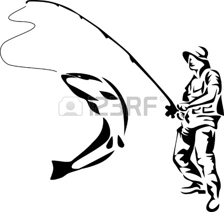 450x426 Fisherman Clipart Trout Fishing