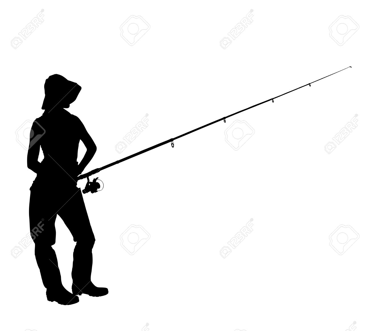 1300x1161 Fishing Rod Clipart Boat Silhouette