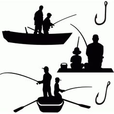236x236 Fisherman Silhouette Fisherman Silhouettes Embroidery Machine
