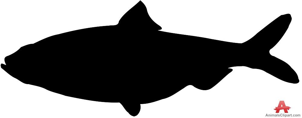999x390 Fish Silhouette Clip Art Clipartlook