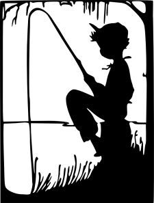 225x297 Little Boy Silhouette Boy Fishing Silhouette Here Is A Truly