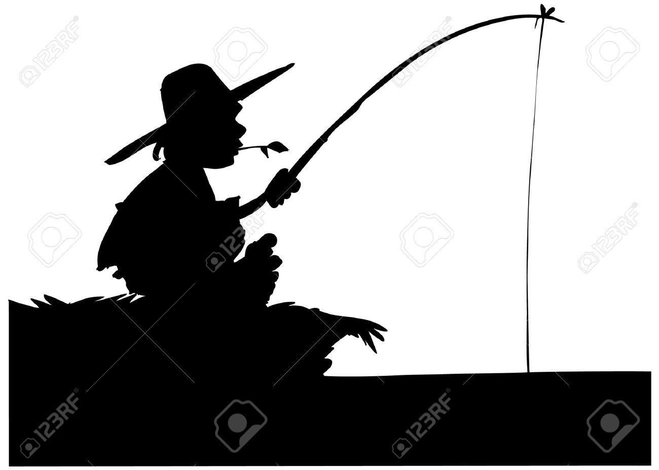 1300x928 Clip Art Silhouette Of Boy Fishing K3fib1l