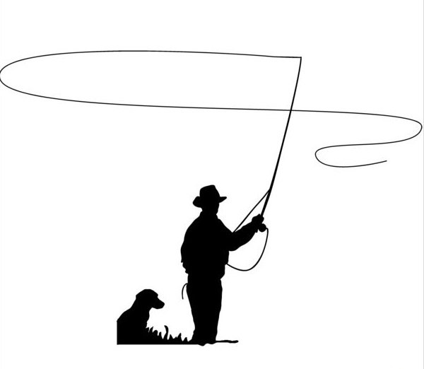 600x522 Clipart Fly Fishing Silhouette