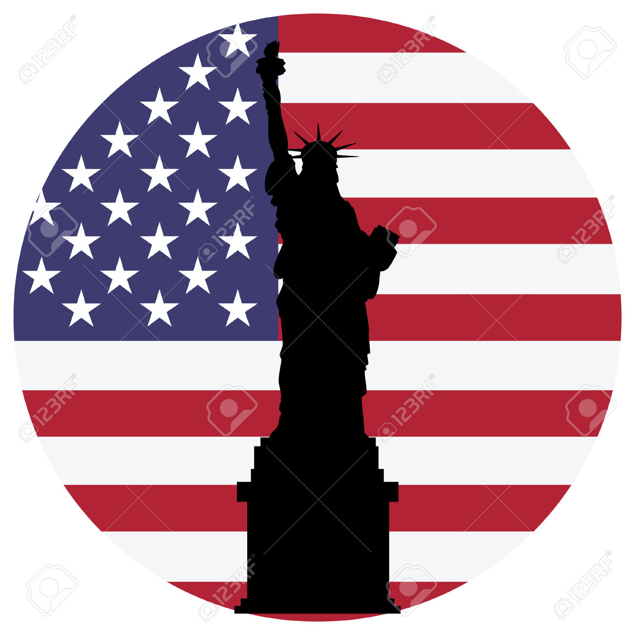 1300x1300 American Flag Clipart New York