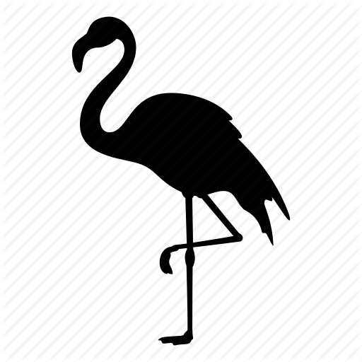 512x512 Animal, Bird, Flamingo, Flamingos, Nature, Pink, Silhouette Icon