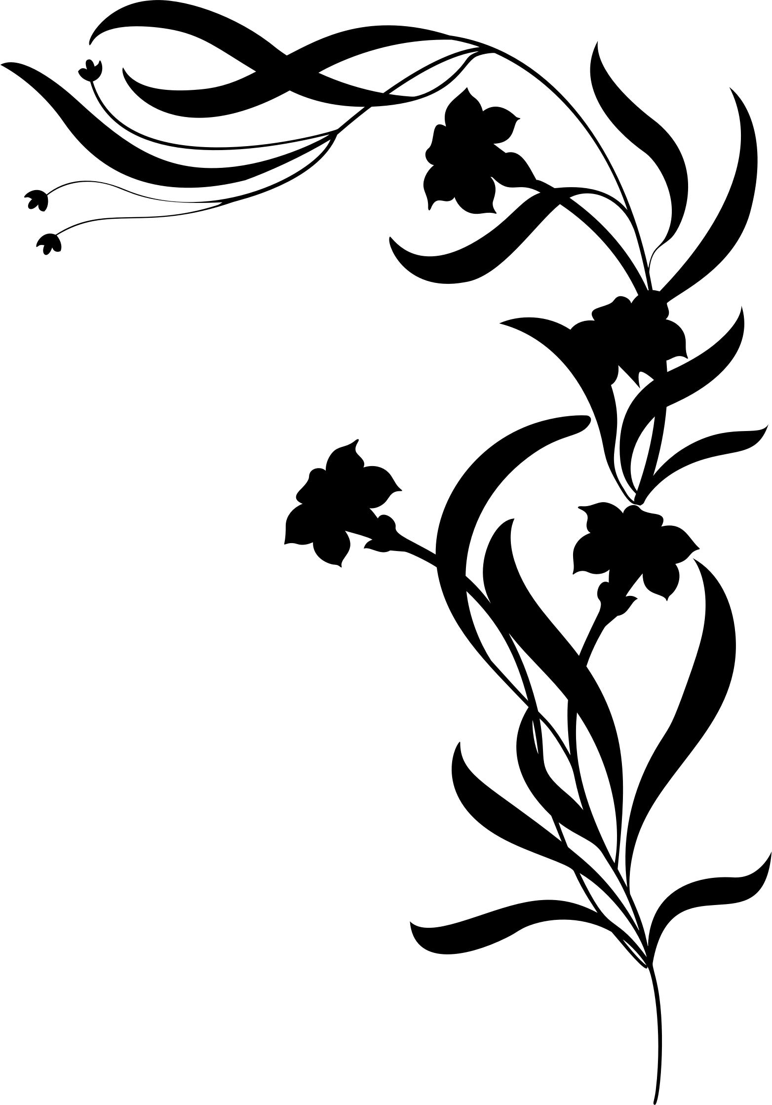 1564x2238 Floral Silhouette By Rebeccaread Icons Png