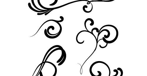 500x260 15 Flowers Floral Silhouette Vector Free Download