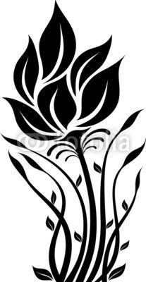207x400 802 Best Silhouettes Flourish Flower Silhouettes Images