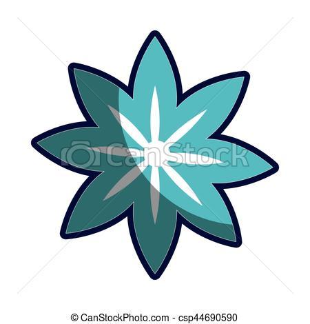 450x470 Blue Silhouette Figure Flower Icon Floral Vector Eps Vectors