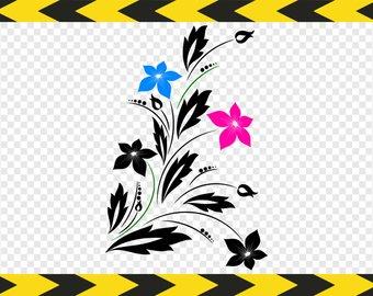 340x270 Flourish Clipart Etsy