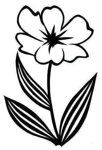 Silhouette flowers designs at getdrawings free for personal 341x500 cut paper design simple flower cats pinterest simple flowers mightylinksfo